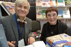 Vertėja Irena Miškinienė kartu su knygos autoriumi